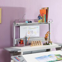 康朴乐 儿童学习桌专用书架 单层多功能书架 含书挡移动白板笔筒