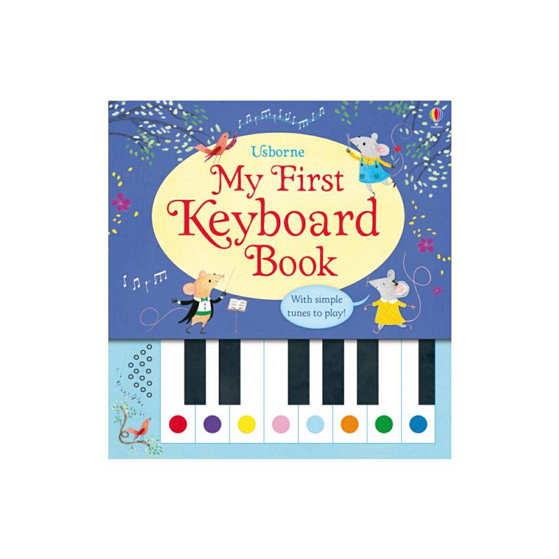 我的*本键盘书 英文原版儿童启蒙 My First Keyboard Book 钢琴发声书 进口原版 精装