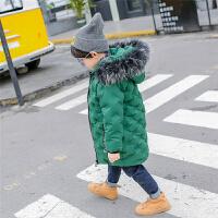儿童棉衣2017新款男童装装外套中长款加厚中小宝羽绒棉袄潮