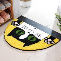卡通半圆猫头地垫门垫床边垫浴吸水防滑脚垫厨房客厅脚垫 半圆猫