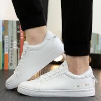 冬季加绒板鞋白色韩版小白鞋潮流休闲鞋运动棉鞋B128