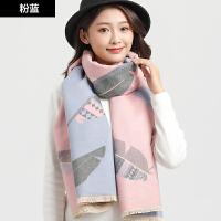 围巾女冬天长款冬季围脖时尚英伦格子披肩学生百搭加厚保暖仿羊绒
