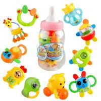 优贝比 10只奶瓶装摇铃套装 婴儿玩具 婴儿礼物 463134