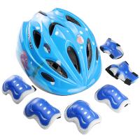 轮滑护具自行车滑板溜冰旱冰鞋平衡车护膝帽儿童头盔套装