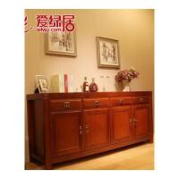 新中式全实木家具 海棠木餐边柜 实木茶水柜 储物柜边柜子 4门