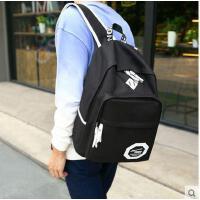 双肩包 旅行包 背包 书包男时尚潮流高中学生大学生旅行包韩版初中帆布双肩包男士背包