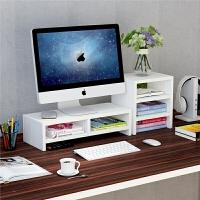 电脑显示器屏增高架底座桌面键盘置物架收纳整理托盘支架子抬加高收纳架储物架 2