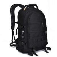吃鸡三级包战术背包登山包双肩包潮男迷彩书包帆布户外背包旅行包 黑色 约40L