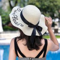 海边度假沙滩帽女士防晒太阳帽 韩版礼帽子休闲百搭遮阳帽户外草帽女