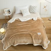 君别毛毯冬季加厚羊羔绒单人被子学生宿舍午睡毯子双人空调毯女