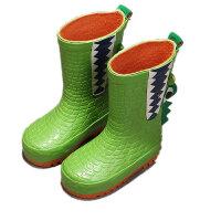 18年新款儿童橡胶雨鞋宝宝防滑春夏男童恐龙可爱中筒水鞋女童