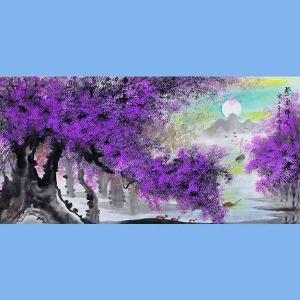中国青年美术家协会常务理事,中国扇子艺术学会会员,中国山水画院专业画家,国家一级美术师高云鹏(紫气祥云)