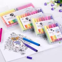 水彩笔12色24色36色幼儿童三角杆水彩笔涂鸦绘画笔画画笔套装