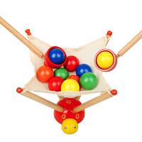 天线宝宝快乐抢球大赛锻炼手臂灵活性益智早教木制玩具