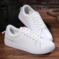 冬季加绒板鞋白色韩版小白鞋潮流休闲鞋运动棉C鞋B128