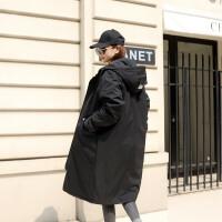 棉衣女中长款连帽bf保暖2018冬新款大码韩版长款过膝胖MM大衣