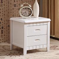 床头柜实木现代中式卧室简约储物柜小号收纳柜整装原木床边柜 整装