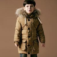 男童棉衣外套加厚冬装宝宝毛领连帽棉服儿童中小童保暖棉袄时尚大衣1208 支持货到付款