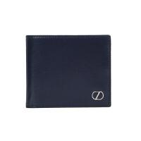 Z ZEGNA 杰尼亚 男士深蓝色牛皮光面短款两折钱包E1177Z PLM BCH