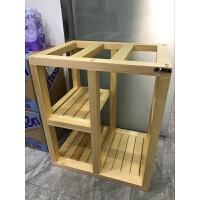 榫卯白实木鱼缸架水草缸架子松木底座底柜开放式