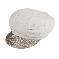 时尚帽子女冬天韩版潮秋冬亮片贝雷帽渔夫帽鸭舌帽羊毛呢南瓜帽八角帽