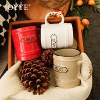 Joyye 欧式复古陶瓷杯子水杯马克杯怀旧做旧咖啡厅陶瓷杯创意礼品