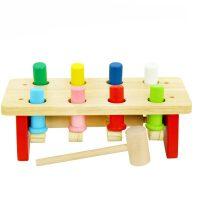 【当当自营】木玩世家 声东击西打桩台 敲打台玩具 木制儿童早教益智敲击台 QJH8000