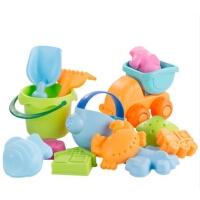夏天婴儿软胶沙滩玩具套装幼儿童玩水桶洗澡男孩女宝宝小孩挖沙子