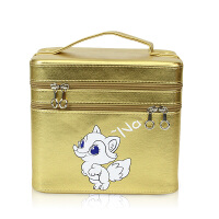 新款化妆包大容量大号收纳袋旅行双层简约可爱多功能便携手提化妆箱