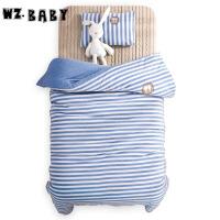 [当当自营]wz.baby儿童针织棉被套枕套枕芯被芯三套件120*150cm蓝