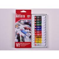 美邦祈富 水彩颜料12色18色24色12ml 美术生水彩绘画美术颜料