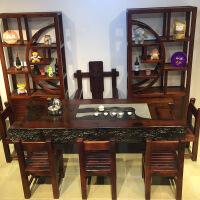 功夫茶桌椅老船木茶桌仿古几简茶台中式实木家具古船木茶 整装