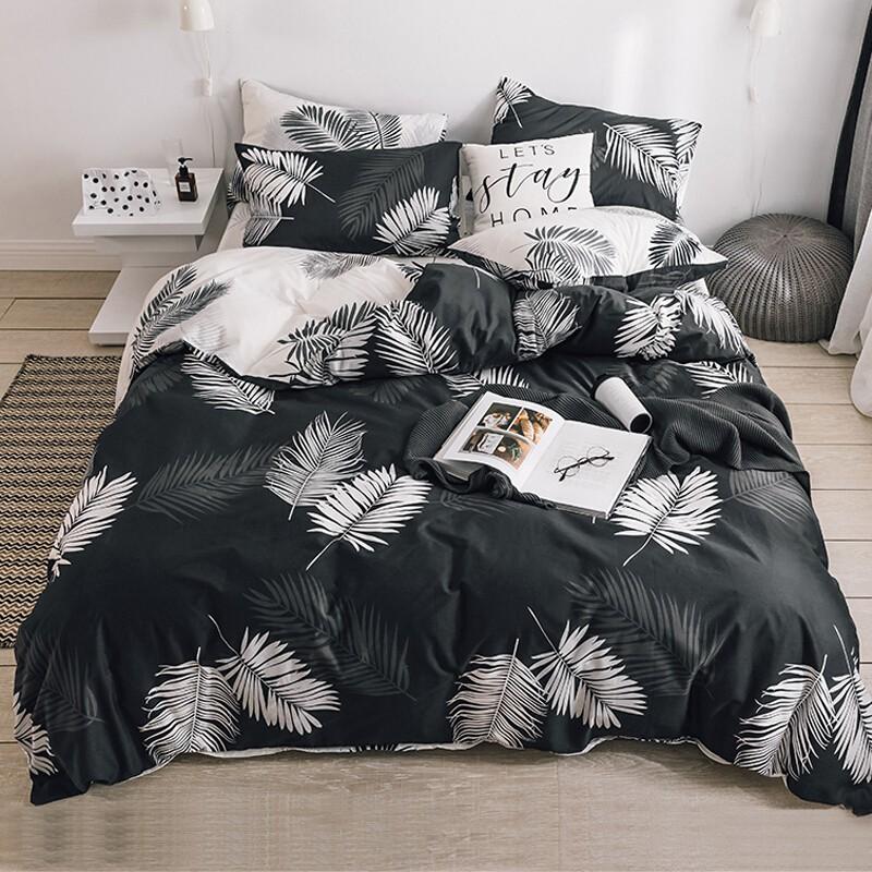 全棉四套件 纯棉斜纹印花 双人床上用品套件 床单被套 高支高密床品套件  1.8/2米床 被套220*240cm