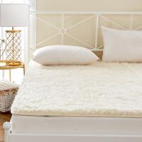 澳洲羊毛床垫垫被垫背1.5m床褥1.8米加厚保暖垫子冬天褥子双人质量媲美慕斯喜临门顾家