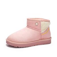 camel骆驼女鞋 冬季新品时尚甜美舒适靴子套筒低跟雪地靴女