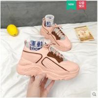 鞋子女冬季新款运动鞋韩版bf风百搭老爹鞋学生厚底跑步休闲鞋