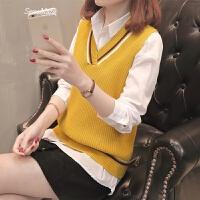 女装春装2018新款女时髦套装女士毛衣两件套短款打底衫针织衫潮