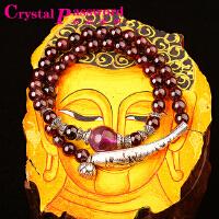 水晶密码CrystalPassWord 原创天然巴西石榴石双圈小鱼手链女款SJMM3-004