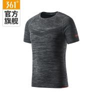 【2件4折】361度短袖男装2019夏季新款跑步健身拼接361快干舒适透气训练T恤551824143