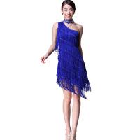 时尚新款拉丁舞流苏裙烫钻亮片演出比赛服装练功服连衣裙女成人春