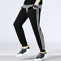 男士运动小裤三条杠男士宽松长裤卫裤休闲裤男条纹跑步裤潮K8015