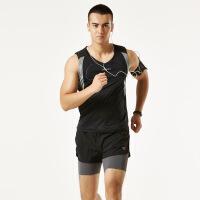 背心短裤户外套装 男女夏健身跑步马拉松比赛训练速干田径服