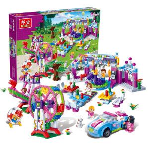 【当当自营】邦宝益智媚力都市拼装积木女孩玩具礼物派对837粒嘉年华5岁以上女孩儿童礼物6120