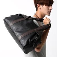 新款男包包�渭绨�男士手提包休�e包�n版斜挎包潮旅行包