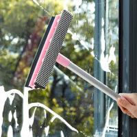 红兔子(HONGTUZI) 擦玻璃洗窗户清洁工具镜子浴室家用双面刮水器伸缩杆搽玻璃刷