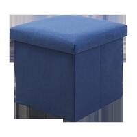 长方形收纳凳子储物凳可坐人沙发凳布艺家用换鞋凳折叠小凳子