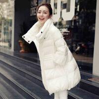 2018新款棉衣女秋冬季韩版宽松A字袄中长款孕妇羽绒