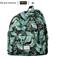Mr.ace Homme双肩包女韩版印花背包中学生书包学院风男旅行电脑包