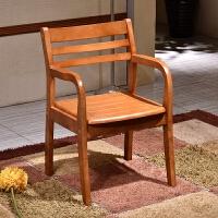 实木餐椅现代简约办公椅子中式电脑桌椅靠背椅子家用带扶手会议椅 实木脚
