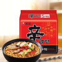 【包邮】 韩国进口 农心辛拉面 香菇牛肉味方便面泡面 120g*5袋